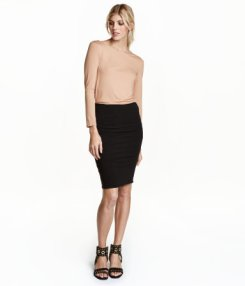 H&M Black pencil skirt 12.99