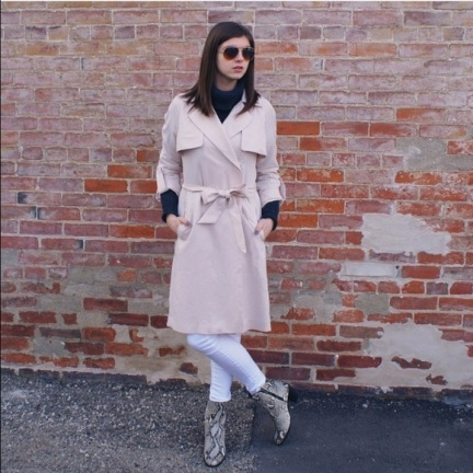 H&M pink Trench Coat $30 dollars