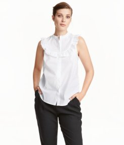 H&M White sleeveless Blouse 24.99