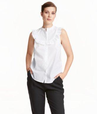 H&M White sleeveless Blouse 24.99