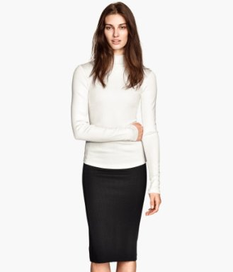 H&M white turtleneck 9.99 dollars
