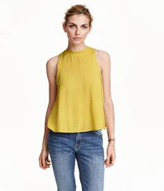 H&M Yellow sleeveless shirt $17.99