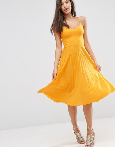 Cami Midi Dress w/Pleated Skirt $32.00