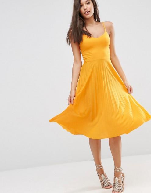 Cami Midi Dress w/Pleated Skirt $32.00
